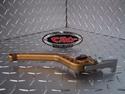 Picture of 03/10 BUELL XB SERIES CRG CNC ADJUSTABLE BRAKE LEVER GOLD STANDARD LENGTH ( # XBRS.BL.YL )